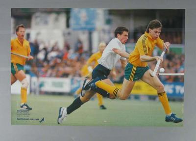 Poster, Australia v England hockey match - 1986