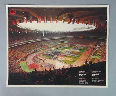 Poster, 1976 Montreal Olympic Games - Opening Ceremony