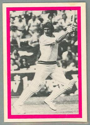 1974 Sunicrust Cricket - Australia v England, Ross Edwards trade card