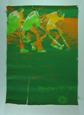 Poster, 1972 Munich Olympic Games - Hockey