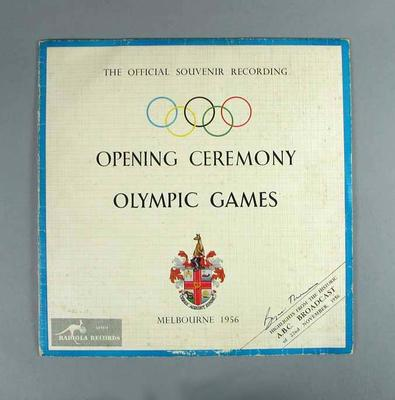Record cover, 1956 Olympic Games Opening Ceremony