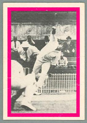 1974 Sunicrust Cricket - Australia v England, Max Walker trade card