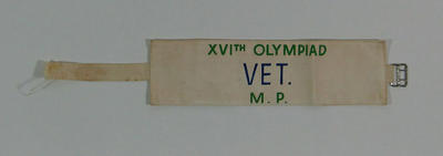 Armband, 1956 Olympic Games Vet - Modern Pentathlon