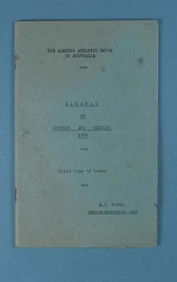Amateur Athletic Union of Australia Almanac of Records & Results, 1954