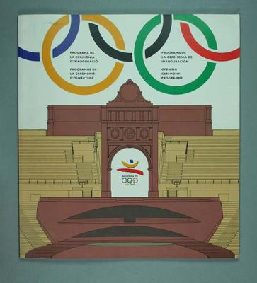 Programme, 1992 Olympic Games Opening Ceremony; Documents and books; 1999.3512.1