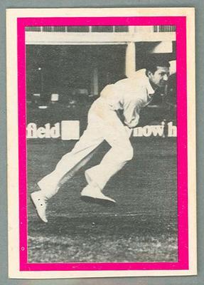 1974 Sunicrust Cricket - Australia v England, Malcolm Francke trade card