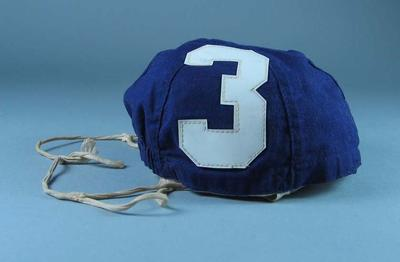 Cap, worn during USSR v Hungary water polo match at 1956 Olympic Games
