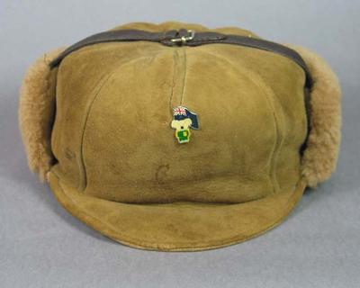 Sheepskin hat, 1980 Australian Winter Olympic Games team uniform