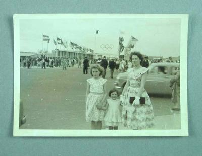 Photograph of Barden family, 1956 Olympic Games Village