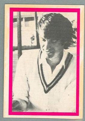 1974 Sunicrust Cricket - Australia v England, Wally Edwards trade card