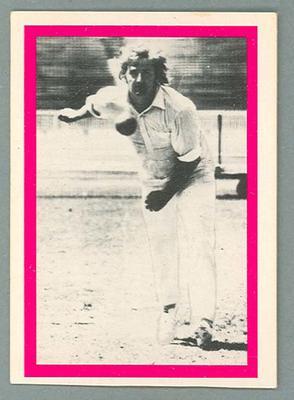 1974 Sunicrust Cricket - Australia v England, Gary Gilmour trade card