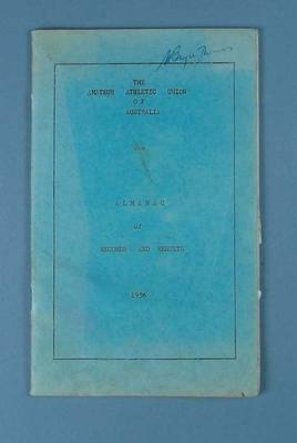 Amateur Athletic Union of Australia Almanac of Records & Results, 1956