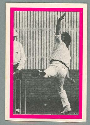 1974 Sunicrust Cricket - Australia v England, Jeff Thomson trade card; Documents and books; 1987.1811.197