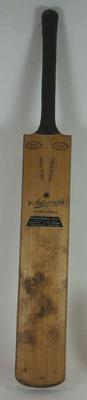 Cricket bat used and autographed by Arthur Morris 1954-55