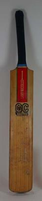 Cricket bat used and autographed by Greg Chappell during 1979-1980