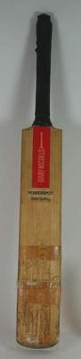 Cricket bat used and autographed by Allan Border, England tour 1981