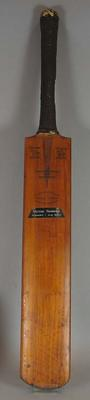 Cricket bat used by Victor Trumper in 1899, made by Stuart Surridge & Co.