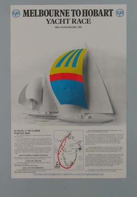 Poster for Melbourne to Hobart Yacht Race, 1981