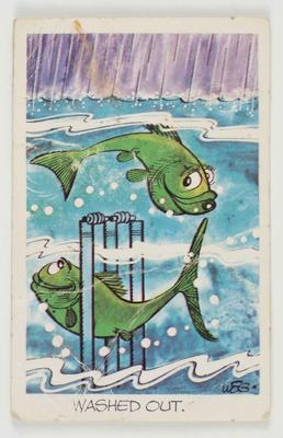 1972 Sunicrust Cricket - Comedy Cricket, Washed Out trade card