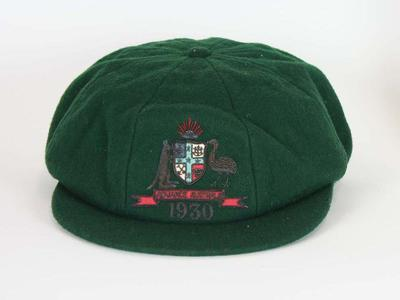 Baggy green worn by Percy Hornibrook in 1930.