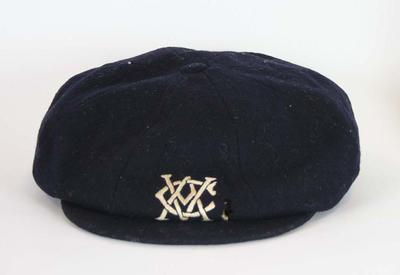 Victorian cricket cap worn by Edgar Mayne in 1912