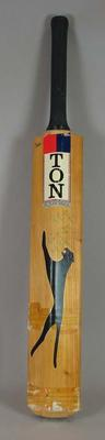 Autographed Cricket bat used by Kim Hughes in 1981