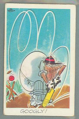 1972 Sunicrust Cricket - Comedy Cricket, Googly trade card