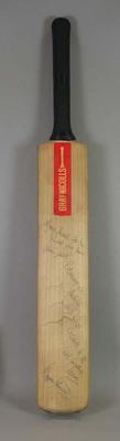 Autographed Cricket bat used by Gordon Greenidge.