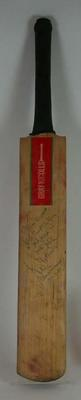 Autographed Cricket bat used by Javed Miandad in 1985