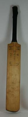 Autographed Cricket bat used by Bert Sutcliffe during the 1950s