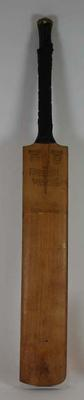 Cricket bat used by Frank Worrell in 1950