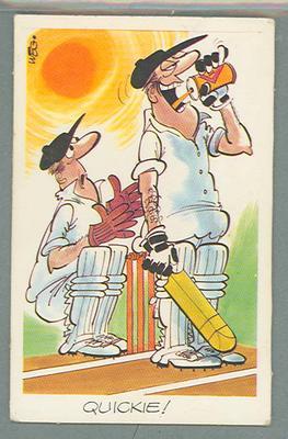 1972 Sunicrust Cricket - Comedy Cricket, Quickie trade card
