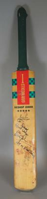 Autographed Cricket bat used by Brian Lara in 1995.