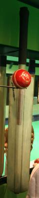 Graphite bat autographed and used by Greg Chappell