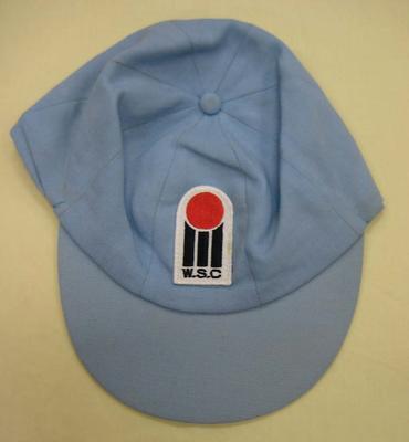 World Series Cricket cap, light blue worn by Mike Procter.