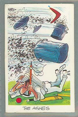 1972 Sunicrust Cricket - Comedy Cricket, The Ashes trade card