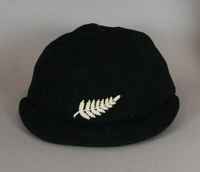 New Zealand cricket cap worn by John Reid.