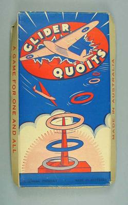 "Board game, ""Glider Quoits"""