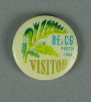 Badge, British Empire & Commonwealth Games - Perth, 1962