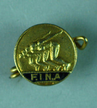 Badge, F.I.N.A. logo; Trophies and awards; 1986.1256.8