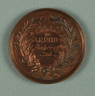 Medal - 2nd Place, 3 Mile Walk Championship of Victoria 1940; Trophies and awards; 1994.3095.30