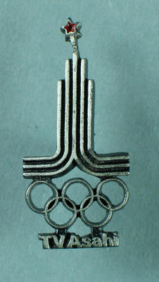 Badge, 1980 Moscow Olympic Games -  TV Asahi