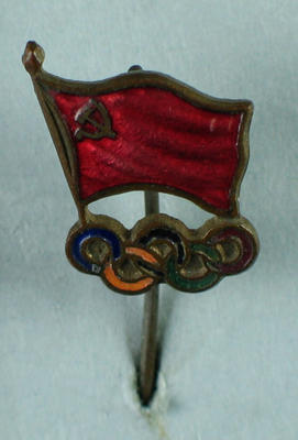 Stick pin, Olympic Rings and USSR flag design