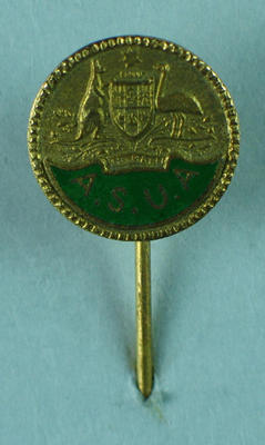 Stick pin, Amateur Swimming Union of Australia; Clothing or accessories; 1986.1257.6