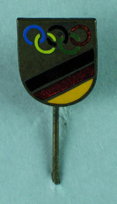 Stick pin, shield with Olympic Rings
