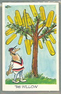 1972 Sunicrust Cricket - Comedy Cricket, The Willow trade card