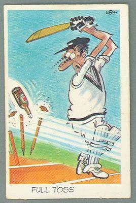 1972 Sunicrust Cricket - Comedy Cricket, Full Toss trade card