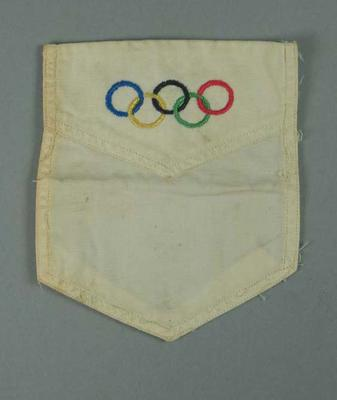Shirt pocket, embroidered Olympic rings design
