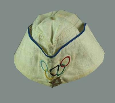 Cloth hat, embroidered Olympic rings design
