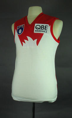Guernsey - Sydney Swans Football Club, No. 7, worn by Dennis Carroll